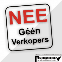 Geen Verkopers sticker (transparant)