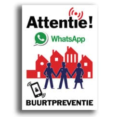 whatsapp buurtpreventie sticker