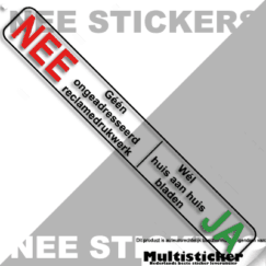 ja nee sticker transparant