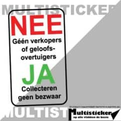 nee ja sticker collecteren