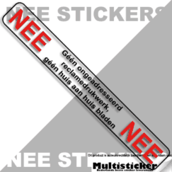 nee nee sticker transparant