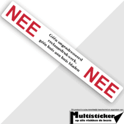 nee nee sticker wit